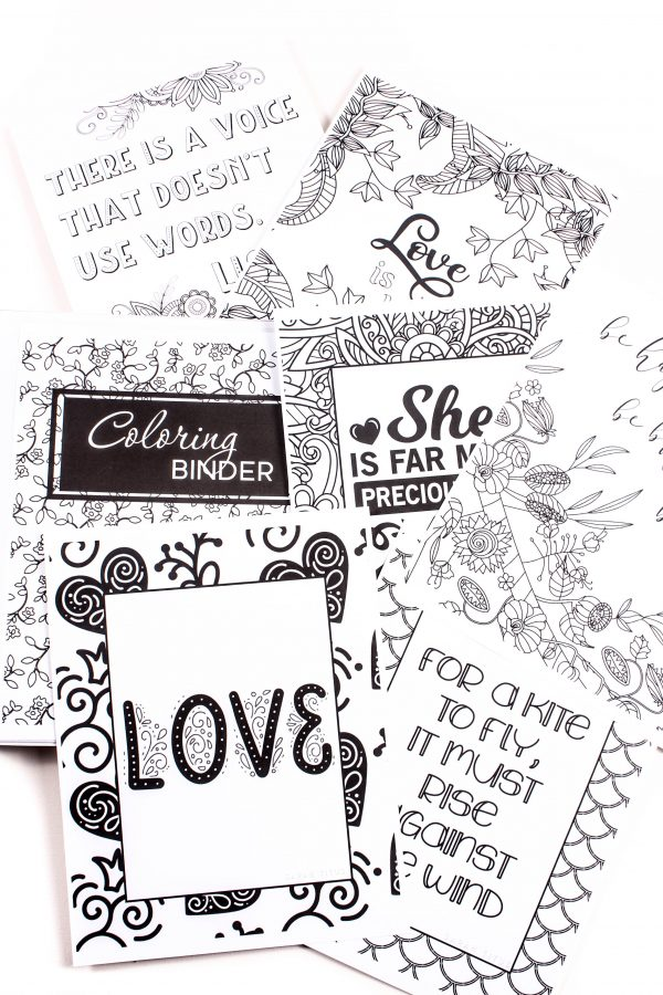 These extremely unique and fun coloring sheets {255 pages!} will not only inspire and encourage you, but melt your stress away and put a smile on your face! #coloringbinder #coloringpages #printablecoloringpages #coloringsheets #printablecoloringsheets