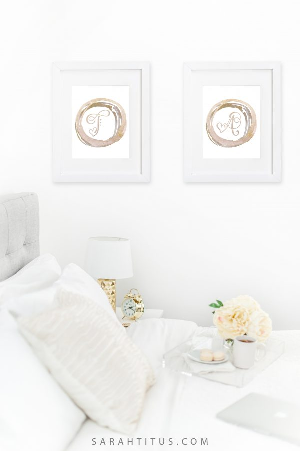 Free Printable Monogram Initials Wall Signs