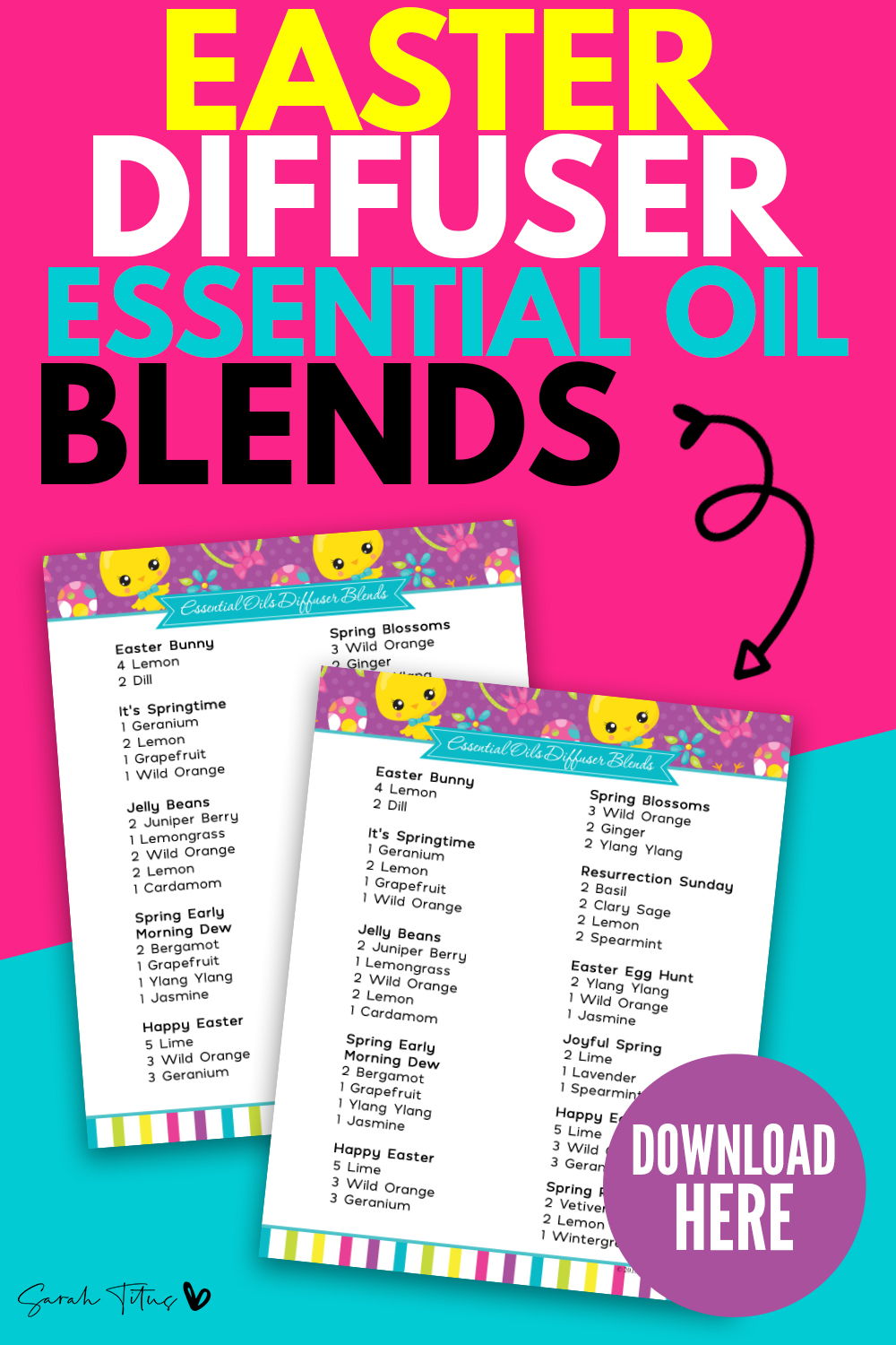 Easter Diffuser Essential Oil Blends Sarah Titus From Homeless To 8 Figures
