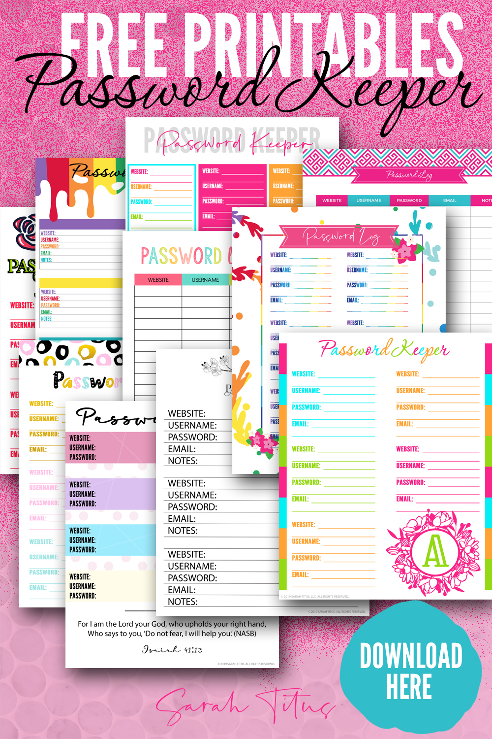 image relating to Password Printable identified as Best Pword Keeper Totally free Printables toward Down load Quickly