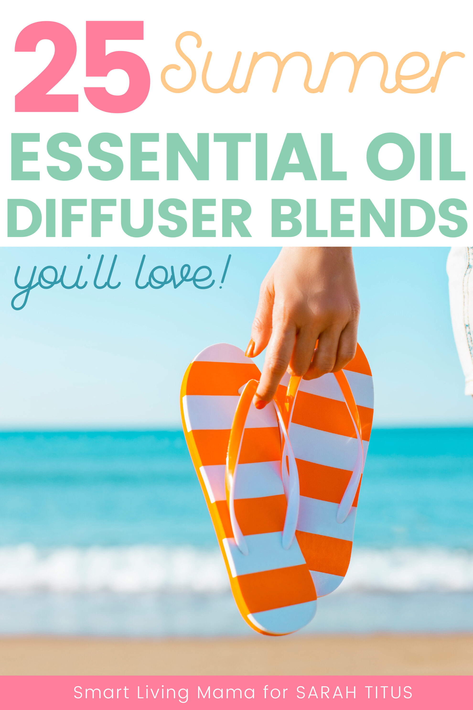 What does summer smell like to you? Whether it's an orange creamsicle, fresh cut grass, a beach house, island paradise or other recipes, you're completely covered with these 25 summer essential oil diffuser blends!!!