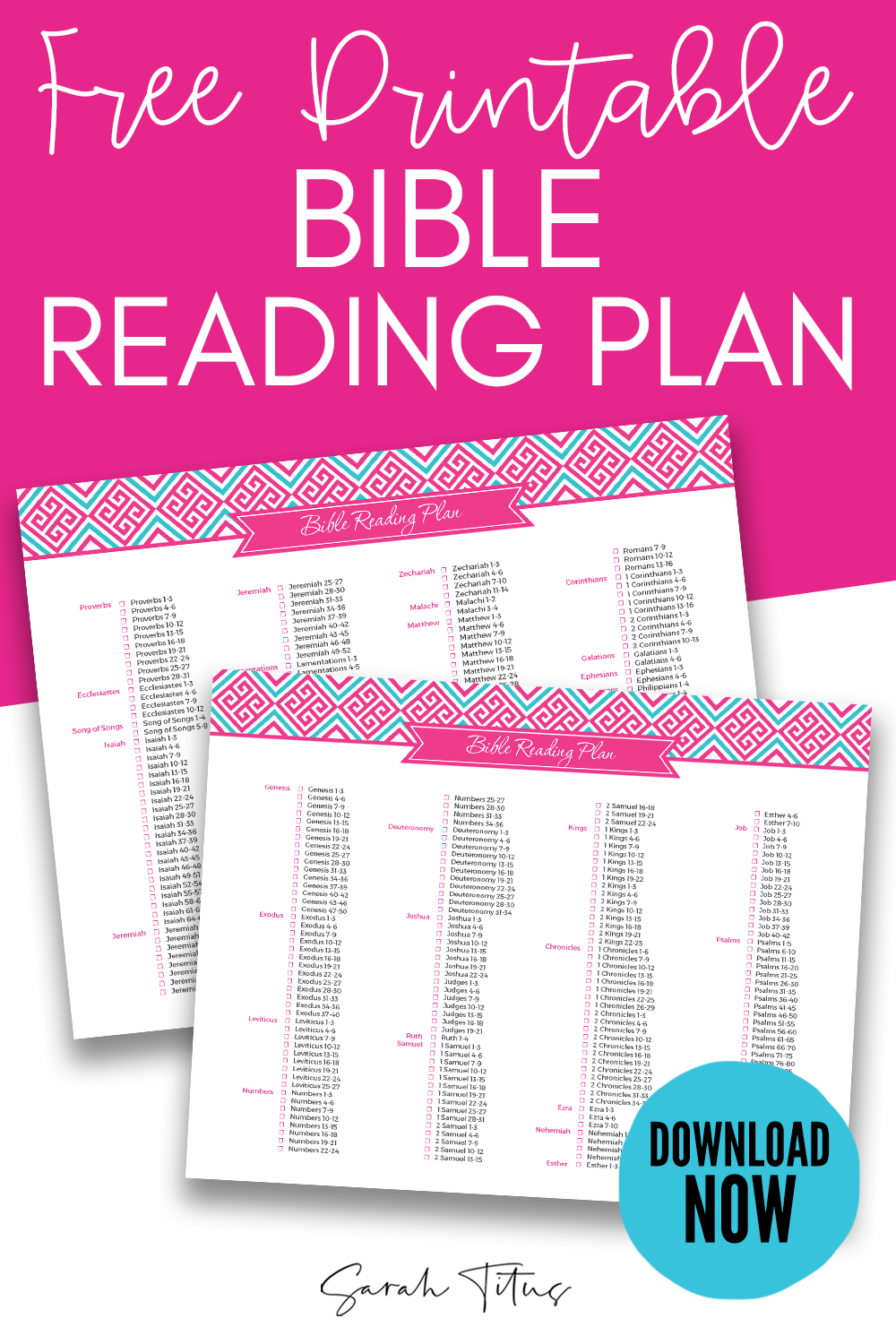 picture about Printable Bible Reading Plan for Beginners named Bible Looking through System - Sarah Titus