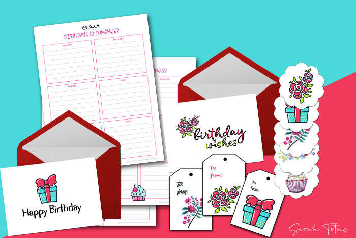 photo relating to Free Printable Birthday Tag referred to as No cost Printable Birthday Playing cards + Present Tags Stickers - Sarah