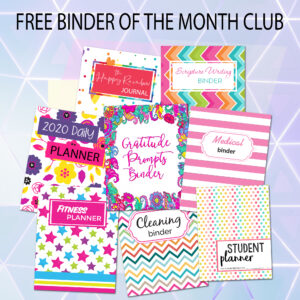 BINDER OF THE MONTH CLUB