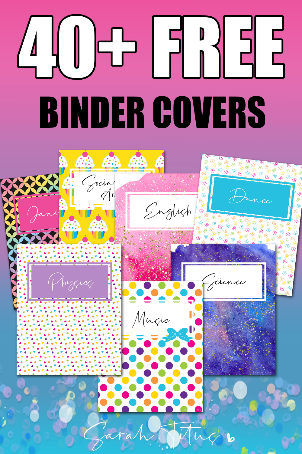 40 Binder Covers Free Printables Sarah Titus From Homeless To 8 Figures