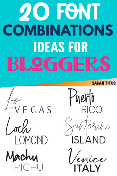 Looking for the best font combination ideas for bloggers? Here's a great set of super modern, elegant & fun font pairing inspiration! Perfect for blog post titles, website brand and professional logos! #script #sansserif #handwritten