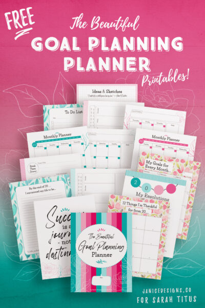 Looking to plan your goals for an awesome year? Here are 15 beautiful FREE goal planning printables templates to help record your ideas, plan properly, and achieve all your goals. It's never to late to start goal setting and planning - start today!